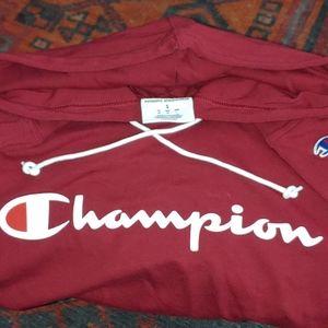 Champion hoodie.